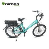 Città verde poco costosa Ebike, bici elettrica del Ce del motore posteriore del mozzo 36V 350W con la batteria di litio posteriore della cremagliera