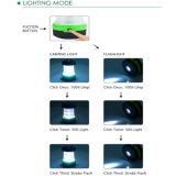 knallen batteriebetriebener Falz 3AAA oben kampieren, LED-Licht wandernd