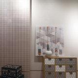 300x900mm azulejos vidriados de inyección de tinta de la pared interior de diseño retro de materiales de construcción