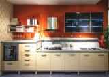 De Modulaire Houten Keukenkasten van de manier met Kunstmatig Marmer