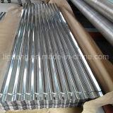 telhadura galvanizada corrugada 665/800/900mm do metal do telhado Tile/0.13/0.3/0.4mm