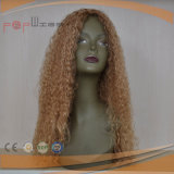 사람의 모발 머릿가죽 최고 금발 꼬부라진 가발 (PPG-l-0581)