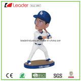 ホーム装飾のための普及したPolyresinの野球選手のBobbleheadの置物の彫像は、あなた専有物にヘッドについてへまをさせる
