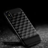 Caja de lujo de la armadura del teléfono móvil de la prisma del laser para la cubierta del iPhone 8 del teléfono celular