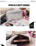 Le produit de beauté de luxe de 2017 de femmes de renivellement de sac Sequins cosmétiques de marque composent l'embrayage de femmes de Sequins de Bling de scintillement de sac à main d'organisateur de sacs