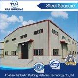 Gruppo di lavoro prefabbricato del magazzino di basso costo nel disegno della struttura d'acciaio