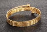 De Gouden Juwelen van uitstekende kwaliteit van de Meisjes van de Vrouwen van de Armband van het Manchet van de Armband van de Kabel van de Draad van het Roestvrij staal van de Manier Multilayer Open