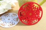 Cores da moda 100% sentida Cup Coasters para mesa de decorações e sentida Coasters