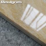 R60y06 Crema Marfilの磨かれた磁器のタイルの浴室の床タイルの最もよい品質の黒のSpakleのタイル
