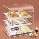 Coffrets d'étalage acryliques pour la boulangerie, sucrerie, pâtisserie, nourriture
