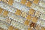 precio de fábrica de 8mm Cbathroom Mosaico de vidrio de la lámina de oro