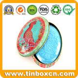 Овальная форма металла может мыло Тин для косметики коробка для хранения
