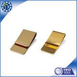 最もよい価格の高品質の金の銅板の女性のお金クリップ