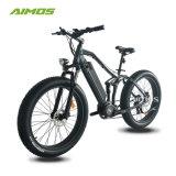 Voller Aufhebung-fetter Gummireifen-elektrisches Fahrrad 2017 mit Bafang Motor