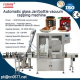 Automatisches Glasglas-Vakuummit einer kappe bedeckende Maschine für Paprika-Soße (YL-160)