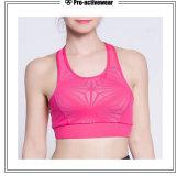 Sujetador de la yoga de las mujeres atractivas calientes del sujetador de Bralette del cordón de la cruz del verano de las señoras rosadas