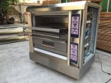 Apparatuur 2 Dek 4 van de bakkerij de Oven van het Gas van de Luxe van het Dienblad voor Verkoop