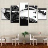 Retrato modular da decoração na pintura moderna impressa sala de visitas da estrutura HD da HOME da arte da parede da música do painel dos posteres 5 da lona