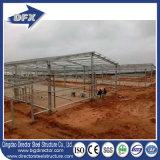 Construcción de la fabricación de la estructura del marco de acero para el hangar del taller del almacén