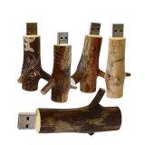 USB 섬광 드라이브 자연적인 나무로 되는 모형 나무 가지 기억 장치 지팡이 Pendrive 4GB 8GB 16GB 32GB (TF-0338)