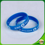 Оптовая торговля экологически безвредные Персонализированные пользовательские печати силиконовый браслет