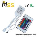 24 mini regolatori a distanza chiave della striscia dell'indicatore luminoso di IR RGB LED