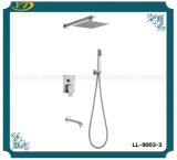 Jeu de douche de pluie de plafond de grand dos d'acier inoxydable de salle de bains de qualité