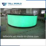 Contatore illuminato rotondo personalizzato della barra dell'arco di superficie solido acrilico LED