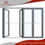 Aluminiumdoppelverglasung-Bi-Faltende Tür-Glaspanel-Tür