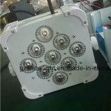 NENNWERT 64 helles 9PCS 4in1 RGBW Guangzhou-LED flache Stadiums-Wäsche-Batterie-Licht