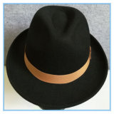 Шлем человека Trilby Fedora войлока шерстей способа