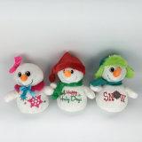 월마트 감사 & BSCI 감사를 가진 성탄일 동안 크리스마스 견면 벨벳 눈 남자 장난감