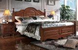 Твердые деревянные кровати современные двуспальные кровати (M-X2261)