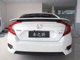 Tejadilho traseiro ABS mais quentes Czj Deflector de lábios para Civic 2016 com luz de LED