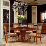 Tableau dinant des meubles 0029 de décoration en laiton de luxe en bois royale italienne de type