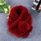 方法厚い冬の暖かい顧客用ウサギの毛皮のスカーフ