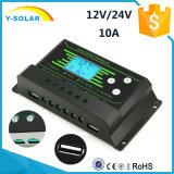 Het nieuwe 12V/24V-auto 10AMP ZonneControlemechanisme van het achter-Licht dubbel-USB Z10