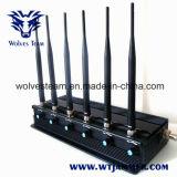 De regelbare Hoge Macht WiFi, GPS, de Mobiele Stoorzender van 6 Antenne 15W van de Telefoon