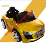 El juguete de oro del coche de los niños 12V de Audi embroma el coche eléctrico