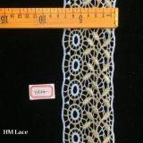 testo fisso francese bianco dorato di 7cm Chantilly, testo fisso Hme824 del merletto di Alençon