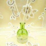 Venda por grosso de garrafas de vidro transparente Difusor Reed fragrância com bastões de vime