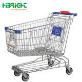 El zincado supermercado Compras trolleys