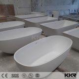 Résine de pierre en forme d'oeufs baignoire en marbre blanc