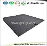 Profil en aluminium anodisé brossé personnalisé pour le dissipateur de chaleur a conduit à la norme ISO9001