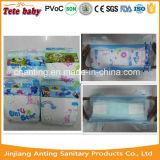 Couches-culottes somnolentes remplaçables de bébé d'étoile de l'élément 4 d'OEM (usine de Fujian Anting)