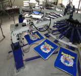 6개의 색깔 자동적인 낙지 직물 인쇄 기계를 위한 경제 스크린 인쇄 기계