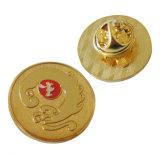 Золото металлические мягкой эмали музыкальная нотация булавка с муфты сцепления в форме бабочки (xd-031720)