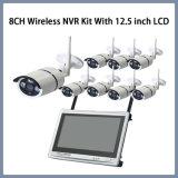 kit senza fili di 8CH P2p NVR con il kit del CCTV dell'affissione a cristalli liquidi da 12.5 pollici