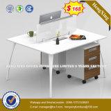 Bas prix forme de L'Office deux sièges de table Station de travail (HX-8N0663)