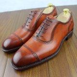 贅沢な材料のイタリアの人のための革結婚披露宴の靴